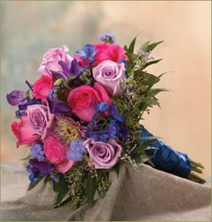 royal blue flowwers for wedding   Re: Flower color to go with Royal Blue dresses?