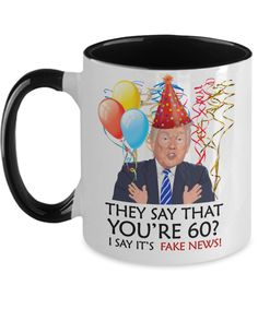 Funny 60th Birthday Trump Gift | Wife Husband Birthday Coffee Mug | Funny 60th Gift for Her Him | Mom Dad Brother Sister 60th Gift | Funny 60th Birthday Gifts, Funny Retirement Gifts, Special Birthday Gifts, Birthday Ideas, Birthday Cards, Funny Mothers Day Gifts, Funny Teacher Gifts, Anniversary Gifts For Parents, Anniversary Funny