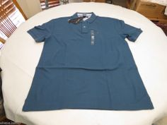 Mens Tommy Hilfiger Polo shirt XXL slim fit solid NEW 7845144 Breaker Blue 471 #TommyHilfiger #polo