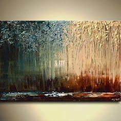 Moderne Spachtel Landschaftsmalerei - Kunst von Osnat. Dieses maßgeschneiderte Gemälde wird ähnlich dem erstellt, die Sie hier sehen, dass ich bereits verkauft haben. Zeitrahmen zu erstellen ist 5 Werktage. Das Gemälde wird strukturiert, wie Sie hier sehen, ich werde die gleichen Farben verwenden, die Malerei werden fertig zum Aufhängen, Kanten werden als Fortsetzung des Gemäldes gemalt werden. Wunder Größe: 40 x 30 Dicke Leinwand Medium: Acryl auf verpackte Keilrahmen Farben: Dunkel bra...