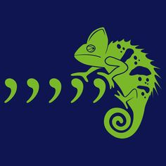 Comma Chameleon by SnorgTees. Men's and women's sizes available. Check out our full catalog for tons of funny t-shirts.