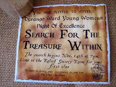 Young Women Inspiration: Search for the Treasure within (Night of Excellence) YW in ecxellence