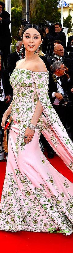 #Fan #Bingbing in custom Ralph & Russo  ♔ #Cannes Film Festival 2015 Red Carpet ♔ Très Haute Diva ♔