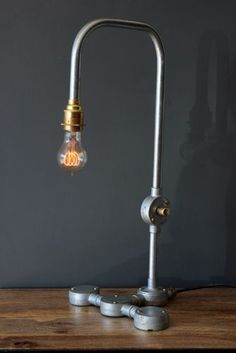 Industrial Tube Pipe Tap Table Lamp