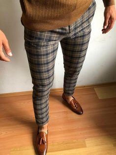 Mens Plaid Pants, Plaid Pants Outfit, Man Jeans, Mens Fashion Wear, Fashion Pants, Fashion Outfits, Guy Fashion, Fashion 2016, Men Winter Fashion