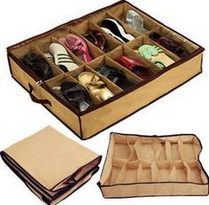 As Seen On TV Tidy Under Bed Fabric Shoe Storage Organizer Use the $2.00 off Coupon today