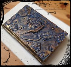 One of a kind art journal inspired by Doctor Who & steampunk .  You will receive the artwork pictured here . A great gift for anyone who enjoys