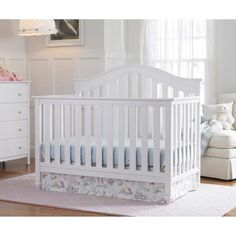 Walmart $219 Fisher-Price Kingsport Just the Right Height™ Fixed-Side Convertible Crib, Choose your Finish