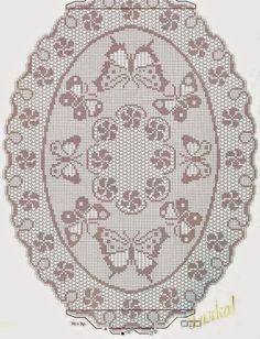 Para vestir la mesa con distinción elige entre estos cinco patrones de carpetas ovaladas tejidas al crochet, de hermoso diseño, verás que n...