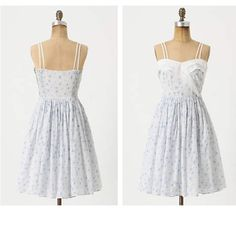 "Anthropologie Beau Idyll Dress With a bib of flouncy ruffles, a ditsy floral print and an above-the-knee hem, Girls from Savoy's summery frock is unabashedly coquettish.   Side zip  Cotton; cotton lining  Machine wash  38""L Anthropologie Dresses"