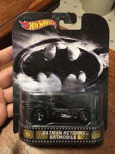 Batman Set 3 Modelle Batmobile Bat Batwing Retro Entertainment 1:64 Hot Wheels