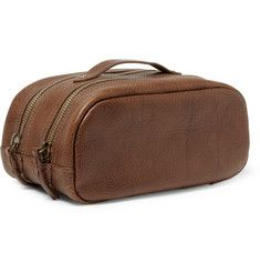 J.CrewMontague Full-Grain Leather Wash Bag