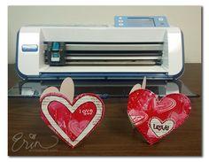Erin Bassett - Valentine Gelli Plate Art ScanNCut Cards
