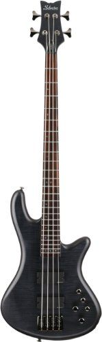 Schecter Stiletto Studio-4 Bass (4 String, See-Through Black Satin) *** Visit the image link more details.