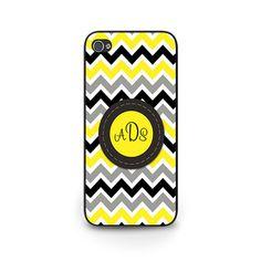 Monogram Phone Case - iPhone 4s Monogram Phone Case - Monogram Chevron iPhone 5s Case - Chevron Monogram iPhone 6 Case