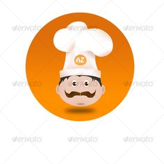 Chef #Icon - #Characters #Illustrations Download here: https://graphicriver.net/item/chef-icon/64148?ref=alena994