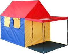 GigaTent My First Summer House Play Tent 4 Large Windows with Skylight Pitch-CT 025 - The Home Depot Kids Indoor Playhouse, Build A Playhouse, Backyard Playhouse, One Summer, Summer Kids, Porch Shades, Play Teepee, Play Tents, Kids Pop