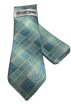 Stacy Adams Men's Tie Hanky Turquoise Charcoal Light Gray Champagne Microfiber | eBay Tie Set, Tie And Pocket Square, Summer Collection, Menswear, Turquoise, Fashion, Moda, Fashion Styles, Green Turquoise
