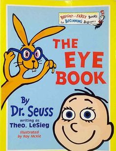 The Eye Book by Theo LeSieg, Dr. Seuss illustrated Roy McKie used paperback 3 Picture, Picture Books, Pikachu, Disney Characters, Fictional Characters, Writing, Eyes, Illustration, Illustrations