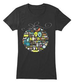 1234567890 Abcdefghijklmnopqrstuvwxys Black Women's T-Shirt Front