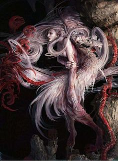 Gory Gothic Fantasy Art - Hong Kuang Renders Spellbinding Images of Macabre Concepts (GALLERY)