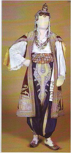 Traditional bridal/festive costume from Prizren (southwestern Kosovo), second half of 19th century.  (Prizren Ethnographic Museum).