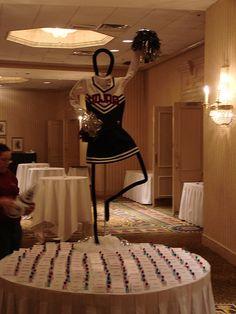 Cheerleading decoration.