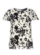 Black and White print flutter top
