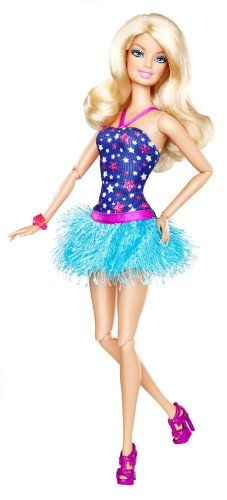 Barbie Fashionistas Barbie Doll - Blue Dress coupon| ¡Ella luce su vestido hermoso!