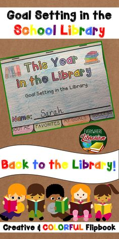 Goal Setting In The School Library Back To The Library Easy