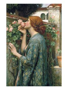 The Soul of the Rose, 1908 by John William Waterhouse. Giclee print from Art.com.
