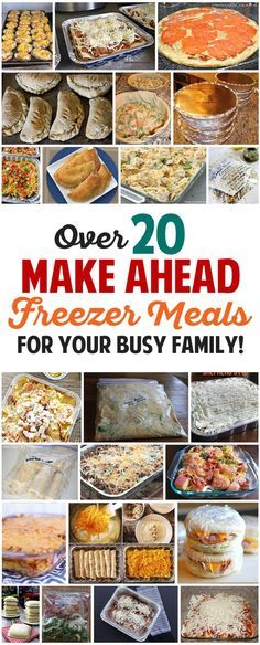 Ahead Freezer Meals Recipes for Your Busy Family! Over 20 awesome freezer meals for busy families. I need to do this so bad!Over 20 awesome freezer meals for busy families. I need to do this so bad! Plan Ahead Meals, Make Ahead Freezer Meals, Freezer Cooking, Quick Meals, Cooking Recipes, Freezer Recipes, Meals To Freeze, Crockpot Meals, Meal Recipes