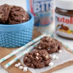 Rocky Road Pudding Nutella Cookies recipe