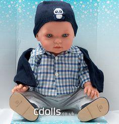 Vestida De Azul Tonino 42 cm doll Crochet Hats, Fashion, Blue Nails, Clothes, Knitting Hats, Moda, Fashion Styles, Fashion Illustrations, Fashion Models