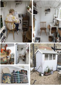 Great idea for a tiny work space! I'm thinking of converting my smallish backyard/porch into an office/studio and this is inspiring me.