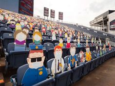 1,800 South Park Cut-Outs Spread Across Five Sections at Broncos Game During the COVID-19 Pandemic Denver Broncos Game, Go Broncos, Andy Murray, As Roma, Comedy Central, Psg, Fc Nantes, South Park Characters, Fans