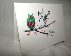 Owl Be Yours note card