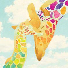 Illustration — Shanti Sparrow Giraffe Painting, Giraffe Art, In The Zoo, Colorful Drawings, Zebras, Cute Illustration, Vector Pattern, Animals Beautiful, Mini