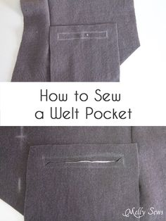 How to sew a welt pocket - Sew a vest - Boys Holiday Vest with Free Pattern - Melly Sews