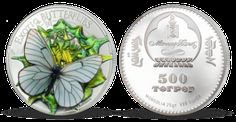 Unikátna strieborná minca s motýľom E 500, Ale, Decorative Plates, Shopping, Ale Beer, Ales, Beer