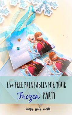 happy girly crafty: 15+ free printables for your Frozen party! (round-up)