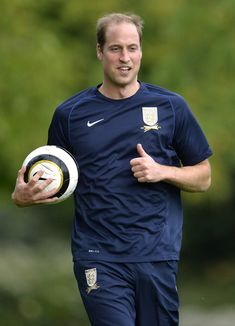 Prince William attends the Football Association's 150th anniversary held in the grounds of Buckingham Palace 7 Oct 2013