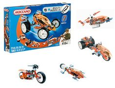 The Meccano 7 Model Set in the Meccano Multi Models range of construction toys is great for children from 8 upwards. This set offers the builder seven different models to choose from. Tools & assembly instructions included.