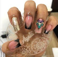Magic Nails, Nails On Fleek, Short Nails, Swag Nails, Nail Art Designs, Hair Beauty, Make Up, Nail Art Galleries, Bling Nails