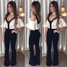 Off Shoulder Ruffle Jumpsuit Women Rompers Deep V Neck Slim Summer Jumpsuit 2018 Office Work Wear Elegant Ladies Party Jumpsuit Fitted Jumpsuit, Ruffle Jumpsuit, Backless Jumpsuit, Casual Jumpsuit, White Jumpsuit, Summer Jumpsuit, Romper Pants, White Romper, Red Romper