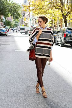 Louise Roe - Ann Taylor Fall Fashion - How To Style A Sweater Poncho - Front Roe fashion blog 8