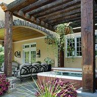 Rustic Pergola, Outdoor Pergola, Outdoor Rooms, Backyard Patio, Outdoor Gardens, Outdoor Living, Outdoor Decor, Pergola Ideas, Wood Pergola