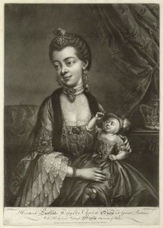 Sophia Charlotte of Mecklenburg-Strelitz; King George IV when Prince of Wales
