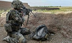 A British Royal Marine Commando from the Brigade Reconnaissance Force in Afghanistan.