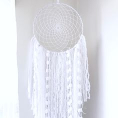I am beyond excited to share with you the first of my new dreamcatchers! Released today, is the classic all white dreamcatcher with a full textured tail and intricate woven net! Look forward to tomorrow and the rest of the week for more new products 💕